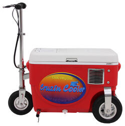 Cruzin Cooler Electric Scooter Cooler - 500 Watt - 24V - 25 Qts - Red