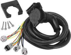 5th Wheel/Gooseneck 90-Degree Wiring Harness w/ 7-Pole Plug - Toyota - 7' Long