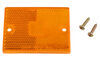 peterson accessories and parts  rectangle replacement amber lens for rectangular side marker light w/ reflector - old style