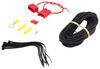 Curt Powered Tail Light Converter Kit with 4-Pole Flat Trailer Connector Plug and Lead C56190KIT