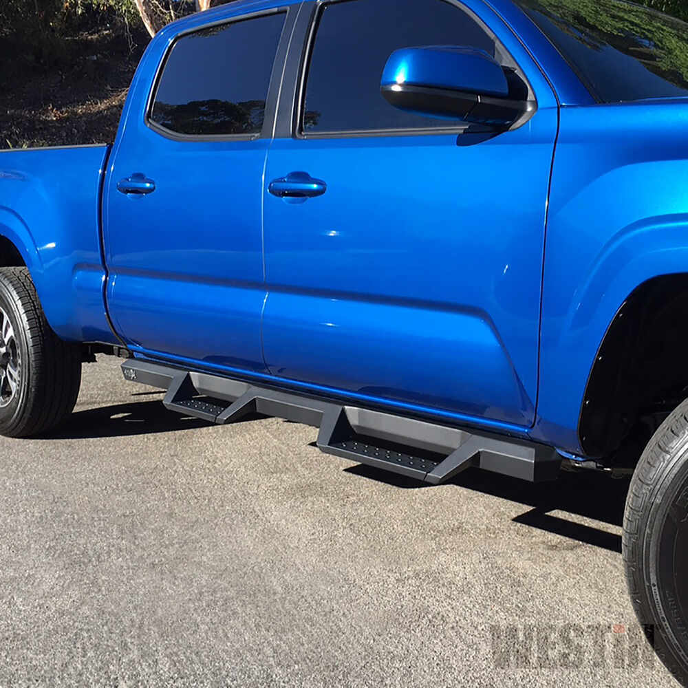 Westin Hdx Nerf Bars With Drop Steps Textured Black