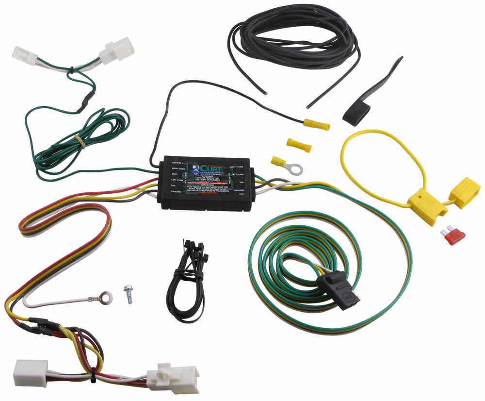 Curt T Connector Vehicle Wiring Harness With 4 Pole Flat Trailer Painless Install Video Custom Fit 56016