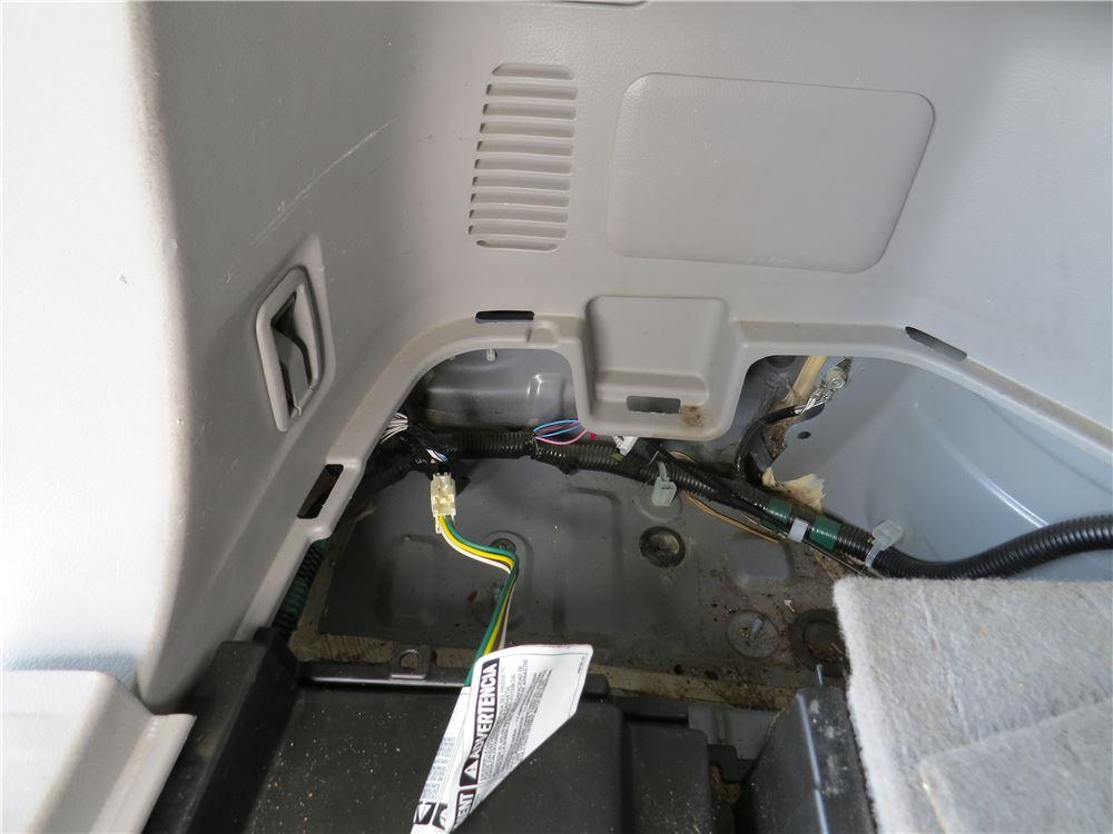 Toyota highlander curt t connector vehicle wiring