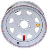"Taskmaster Steel 8-Spoke Trailer Wheel - 15"" x 6"" Rim - 5 on 4-1/2 - White 15 Inch 560545WS2"