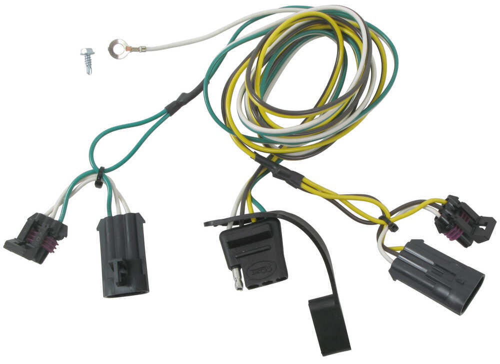 curt t-connector vehicle wiring harness with 4-pole flat trailer connector  curt custom fit vehicle wiring 56076