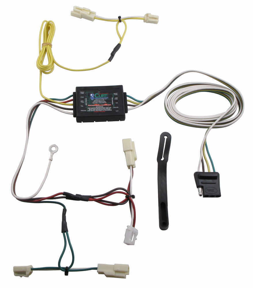Compare Curt T Connector Vs Four Flat Trailer Wiring Vehicle Harness With 4 Pole
