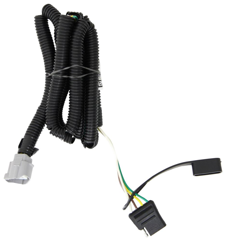 Curt T-Connector Vehicle Wiring Harness for Factory Tow Package - 4-Pole  Flat Trailer Connector Curt Custom Fit Vehicle Wiring 56083