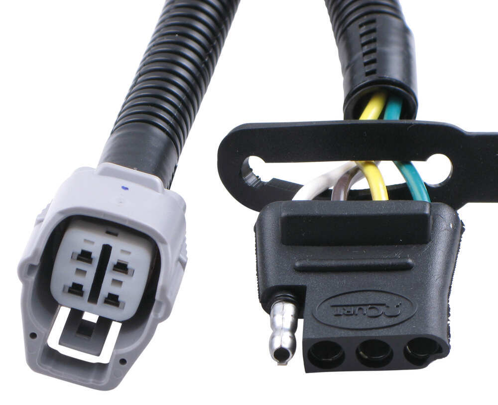 Compare T One Vehicle Wiring Vs Curt Connector Trailer Harness For Factory Tow Package 4 Pole Flat