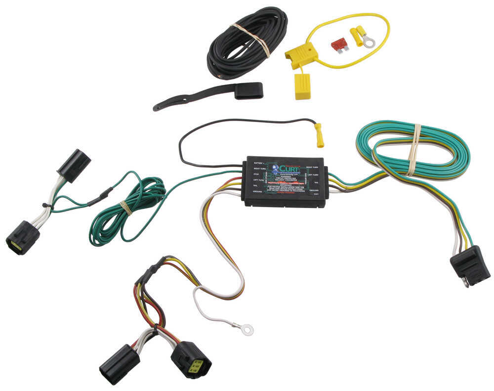 Wiring Diagram For The Curt 4 Pole Free You Pin Trailer Connector Harness T Vehicle With Flat 2 Contactor Solenoid