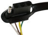Curt T-Connector Vehicle Wiring Harness with 4-Pole Flat Trailer Connector Converter 56091
