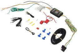 Curt Upgraded Circuit Protected Tail Light w Converter Hardwire Kit - 4 Pole End (Includes Tester)