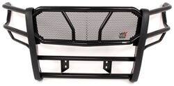 Westin HDX Grille Guard with Punch Plate - Black Powder Coated Steel