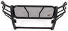 westin grille guards full coverage guard hdx with punch plate - black powder coated steel