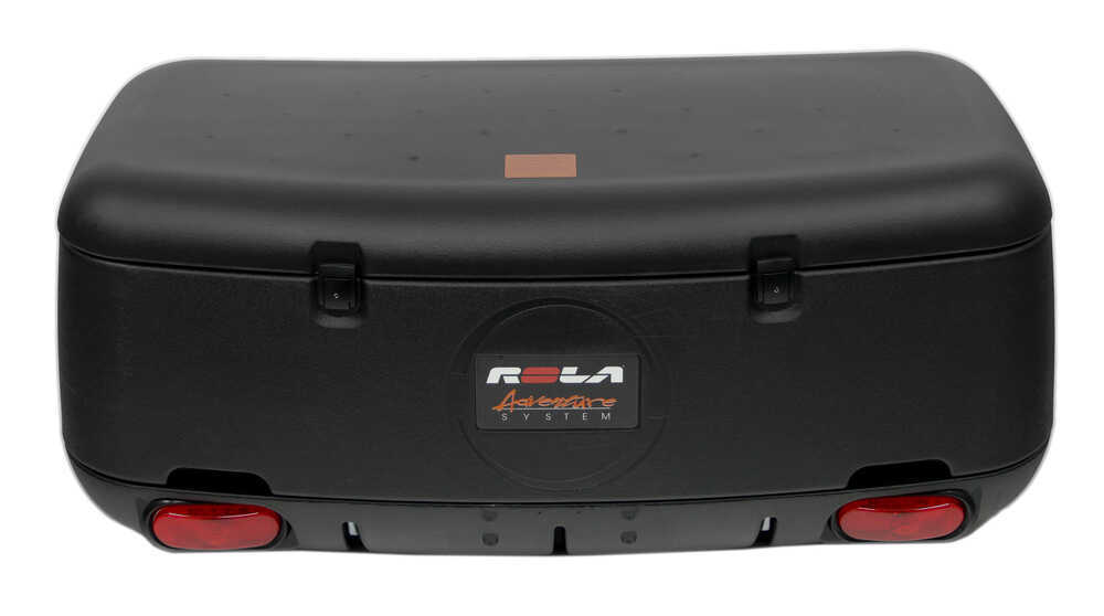 Rola swinging enclosed cargo carrier for 2 trailer hitch