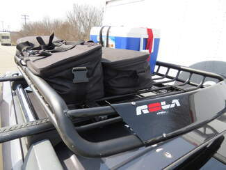 Luggage in Roof Rack Basket