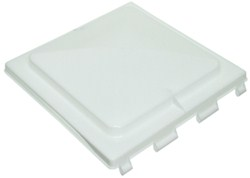 Vent Cover for Jensen Trailer Roof Vents - White