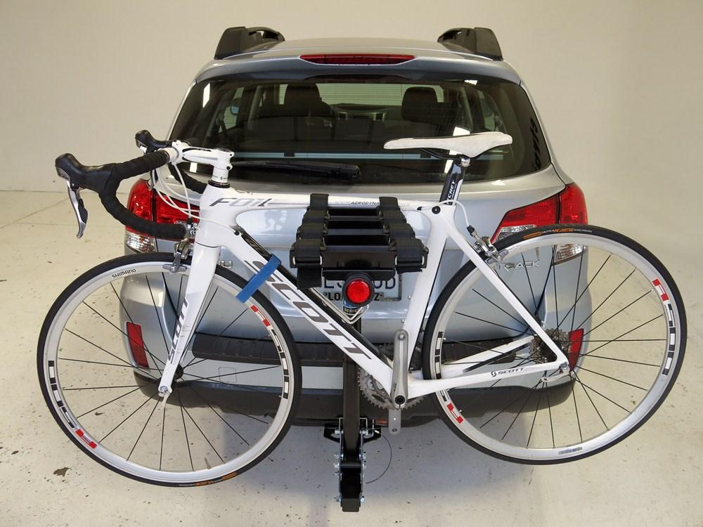 subaru outback wagon pro series eclipse  bike rack   hitches tilting