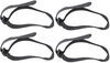 reese accessories and parts straps replacement hook-and-loop for q-slot bike carrier - qty 4