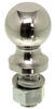 "2-5/16"" Hitch Ball - 1"" Diameter x 2-1/8"" Long Shank - Chrome - 7,500 lbs"