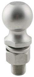 "Hitch Ball with 2"" Diameter and Medium Shank, 6,000 lbs GTW - Stainless Steel"