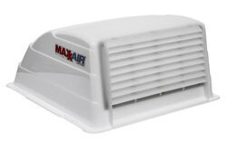 "MaxxAir Standard RV and Trailer Roof Vent Cover - 19"" x 18-1/2"" x 9-1/2"" - White"
