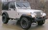"""Draw-Tite Front Mount Trailer Hitch Receiver - Custom Fit - 2"""" 300 lbs Vert Load 65048 on 1996 Jeep Wrangler"""