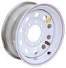 "Taskmaster Steel Modular Trailer Wheel - 16"" x 6"" Rim - 8 on 6-1/2 - White"