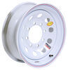 "Taskmaster Steel Modular Trailer Wheel - 16"" x 6"" Rim - 8 on 6-1/2 - White 8 on 6-1/2 Inch 660865WM1L"