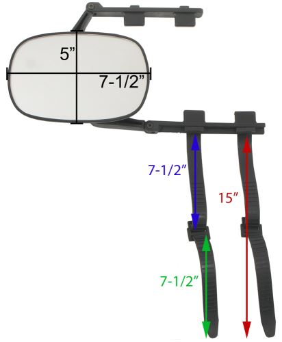 Dimensions of Mirror and Straps
