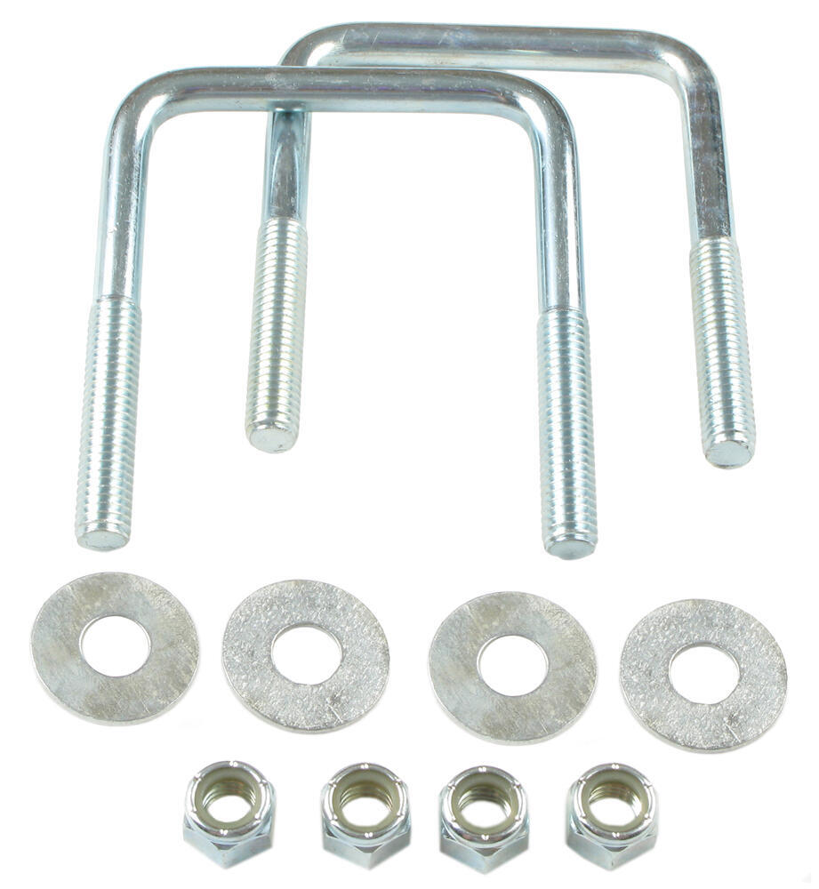 Trailer Square U-Bolts Qty 2 3-1/8 Inch x 4 Inch x 7/16 Inch
