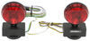Tow Ready Magnetic Tow Lights - Red Incandescent - 4-Way Flat Connector - 20' Long Harness Universal 73864