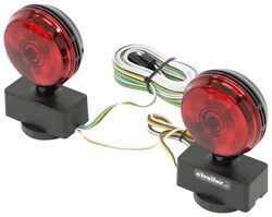 Tow Ready Magnetic Tow Lights - 4-Way Flat Connectors - 20' Long Harness