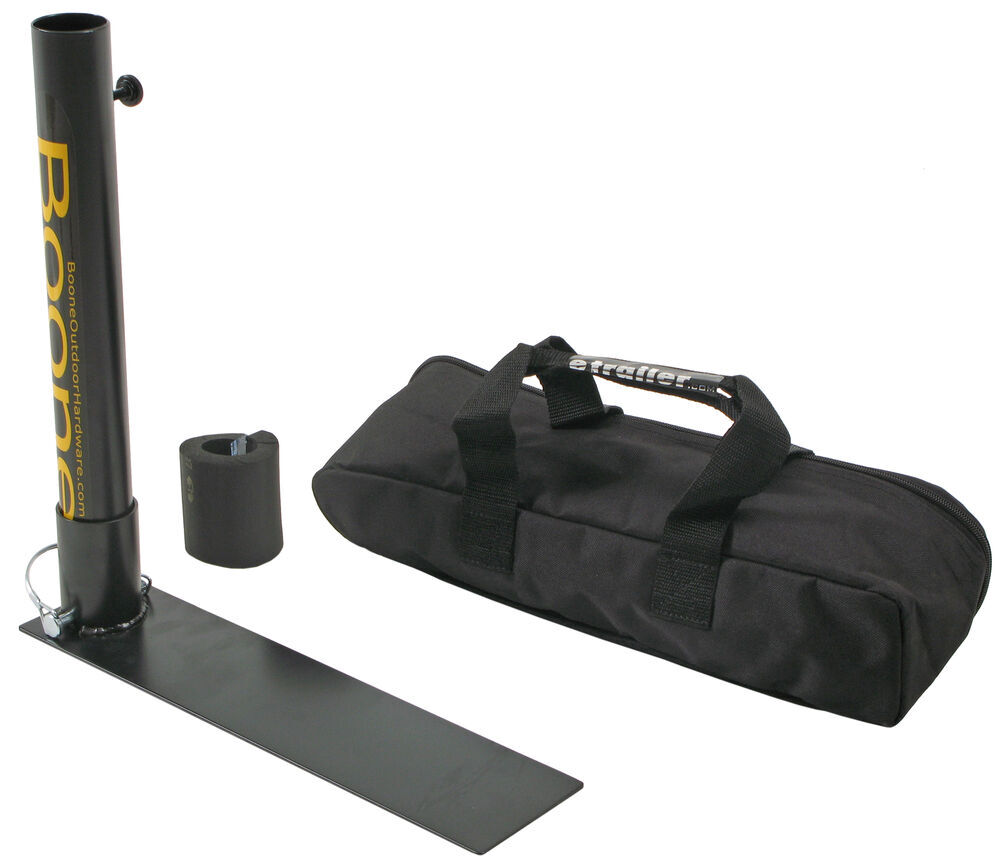 Boone Outdoor Hardware Tailgate Flag Pole with Carry Case and Bumper Protection