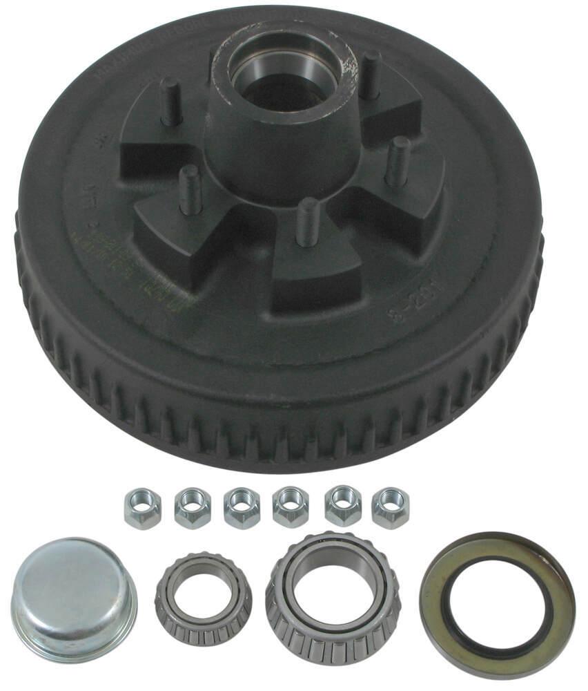"Dexter Trailer Hub and Drum Assembly for 5,200-lb Axles - 12"" Diameter - 6 on 5-1/2 1/2 Inch Stud 8-201-5UC3"