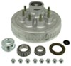 "Trailer Hub/Drum Assembly - 5,200-lb to 7,000-lb E-Z Lube Axles - 12"" - 8 on 6-1/2 - Galvanized"