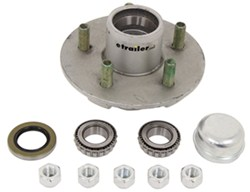Trailer <strong>Hub</strong> Assembly for 2,000-lb Axles - 5 on 4-1/2 - 13&quot; - 15&quot; Wheels - Galvanized - 8-258-50BTUC1