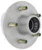 "Trailer Hub Assembly - 2,200-lb E-Z Lube Axle - 5 on 4-1/2 - 13"" - 15"" Wheels - Galvanized 5 on 4-1/2 Inch 8-258-50UC1-EZ"