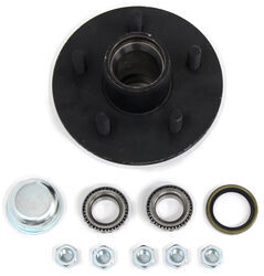 "Trailer Hub Assembly for 13"" to 15"" Wheels - 2,200-lb Axles - 5 on 4-1/2 - L44649 Bearings"