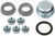 dexter axle trailer hubs and drums hub 5 on 4-1/2 inch idler assembly for 2 200-lb axles -