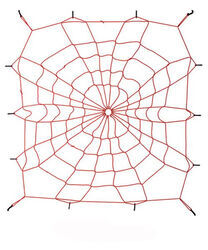 "Spidy Gear Bed Webb Stretchable Cargo Net for Mid-Size Truck Beds - 60"" x 48"" - Red"