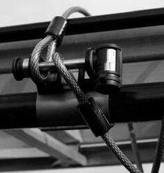 Master Lock LadderLock Tie-Down Anchor with 15' Cable for Ladder Racks