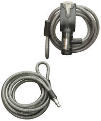 Master Lock Adjustable Cable Lock with Secondary Cable - Stainless Steel - 8' Long