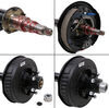 dexter axle trailer axles ez-lube spindles 6 on 5-1/2