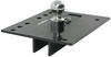 draw-tite gooseneck above the bed removable ball - stores in hitch fold-down trailer with installation kit chevy/gmc trucks