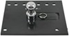 draw-tite gooseneck removable ball - stores in hitch 2-5/16 fold down trailer with installation kit chevy/gmc 3500 series