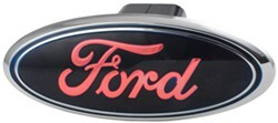 "Ford LED Lighted Trailer Hitch Cover - 1-1/4"" and 2"" Hitches - Chrome"