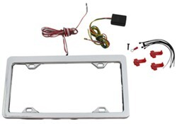 LED Lighted License Plate Frame - Chrome