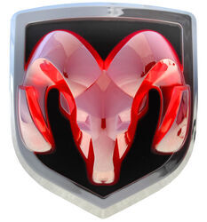Ram LED Lighted Vehicle Emblem - Chrome