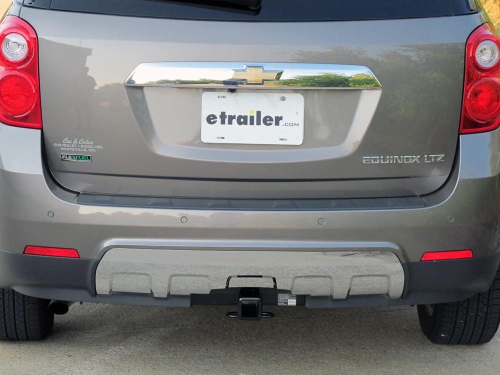 pare curt trailer hitch vs etrailer 2012 Equinox Trailer Hitch 87572 2 inch hitch hidden hitch custom fit hitch on 2012 chevrolet equinox