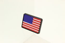 "American Flag 1-1/4"" Trailer Hitch Receiver Cover"